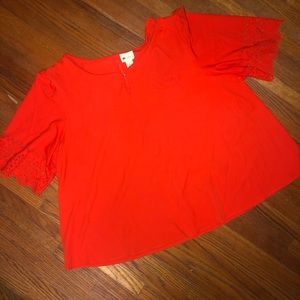 JCPENNY | orange blouse with detail